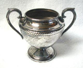 Vin Castleton Silver Plated Sugar Bowl Internationalsilver Co No Lid 203 4 - 1/4 photo