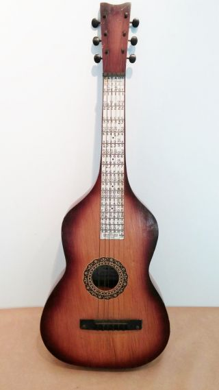 Unique Rare Antique / Vtg Marxochime Colony Hawaiiphone Wooden Acoustic Guitar photo