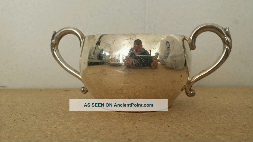 Wm.  A Rogers Silver Sugar Cup Creamers & Sugar Bowls photo