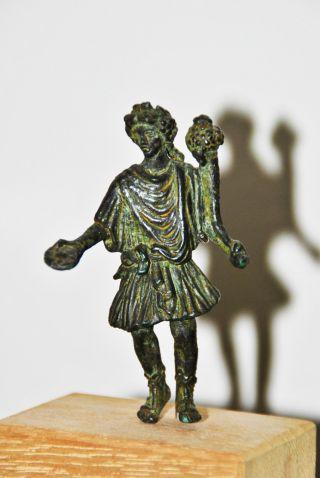 Roman Bronze Statue Statuette Of A Lar Circa 100 - 200 A.  D. photo