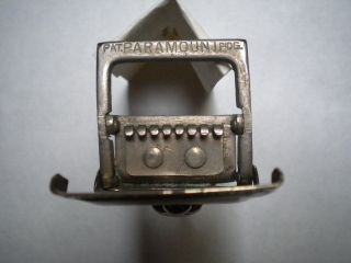 Vintage/antique Paramount Banjo Mandolin Tailpiece C.  1930 - Nickel photo