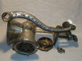 Griswold 4 Cast Metal Meat Grinder The,  G,  M,  Co,  Erie,  Pa Hand Operated Vgc Nr photo