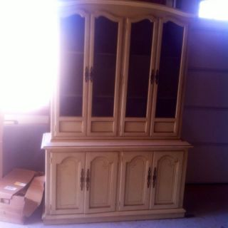 Drexel French Provencial China Cabinet photo