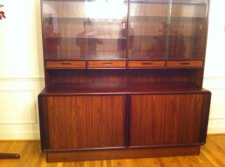 Danish Modern Brazilian Rosewood China Buffet By Kibaek photo