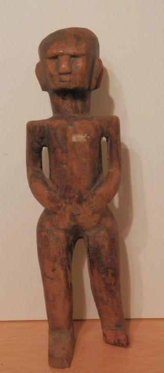 Old Antique African Fine Folk Art Primitive Wood Sculpture Carving Artwork Arts photo