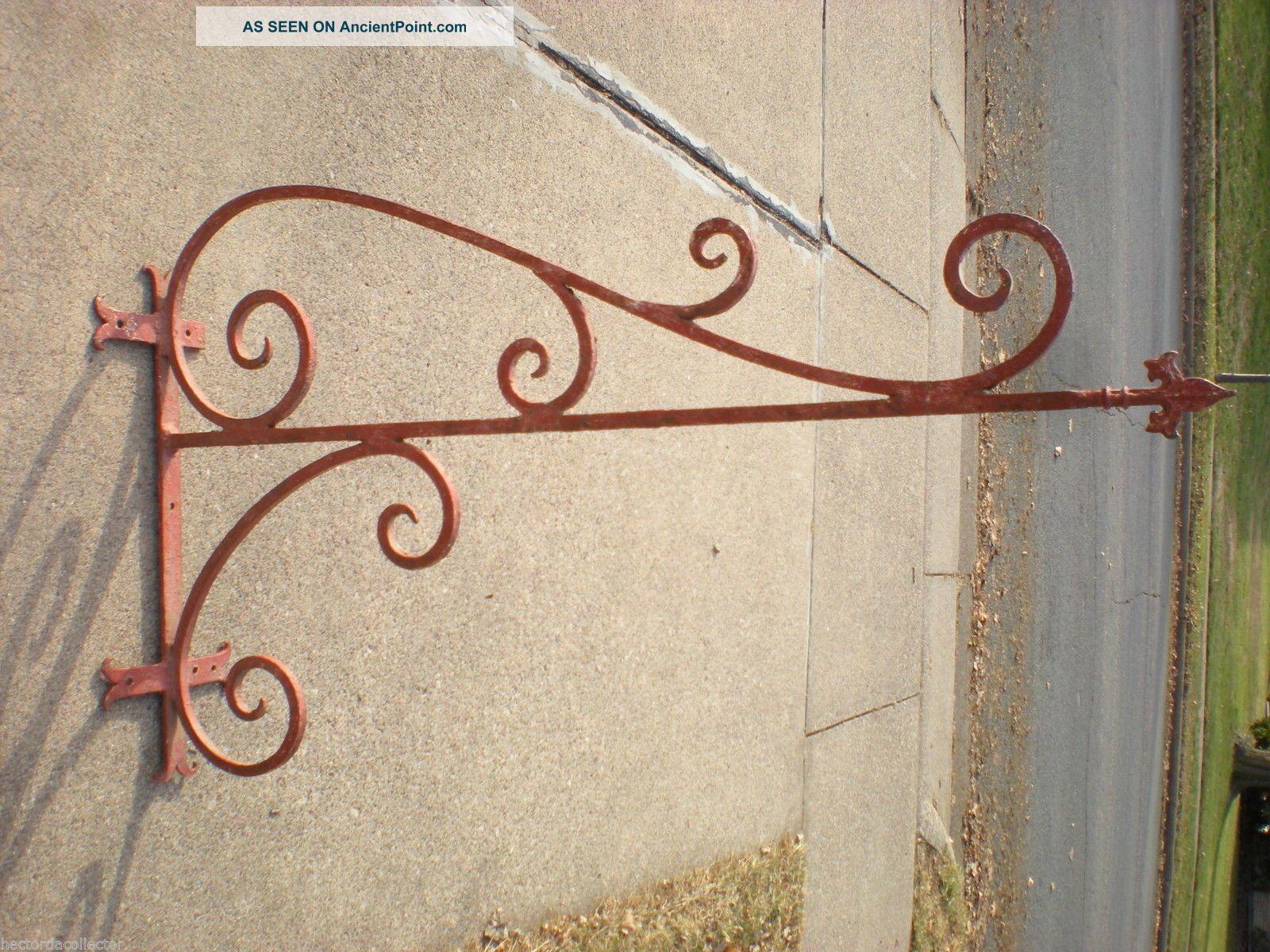 Picture of: Sale Large 55 1800s Antique Wrought Iron Sign Bracket Cream City Brick Milwauke