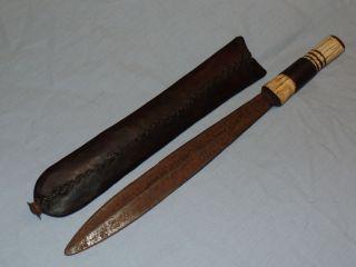 Rare Unique Black Sheath African Masai (maasai; Masaai) Dagger From Kenya Africa photo