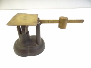 Antique E&t Fairbanks & Co Vt Painted Iron Brass 1859 Gold Coin Merchants Scale photo