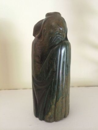 Lazarus Tandi Signed Verdite African Art Sculpture.  Asian Figural.  Zimbabwe photo