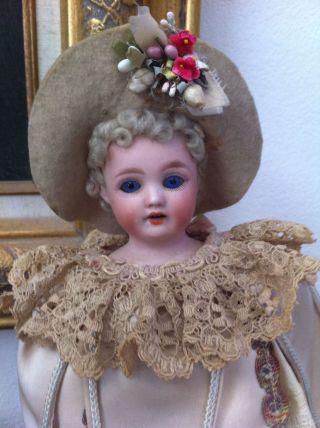 Rare Antique German Schoenau & Hoffmeister Mechanical Marotte Musical Doll photo