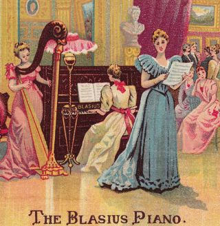 Blasius Piano Recital W Adair Cohocton Ny Thos Edison Victorian Advertising Card photo
