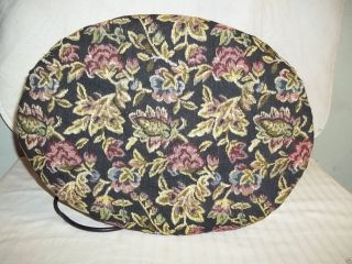Vintage Heated Foot Stool With Needle Point Flowered Covering 1950 ' S photo