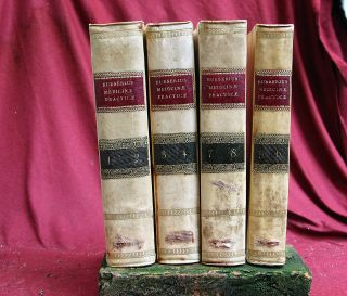 4 Antique Books Medicine Practicae,  8 Volumes,  Napels 1816 Italy. photo