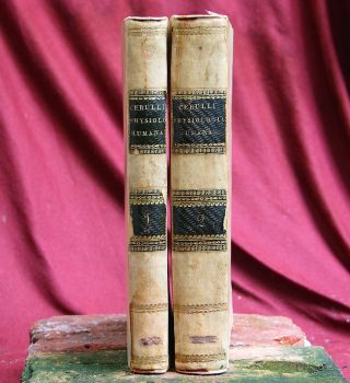 2 Antique Books Josephi Cerulli,  Napels 1813 Italy.  Psychology photo