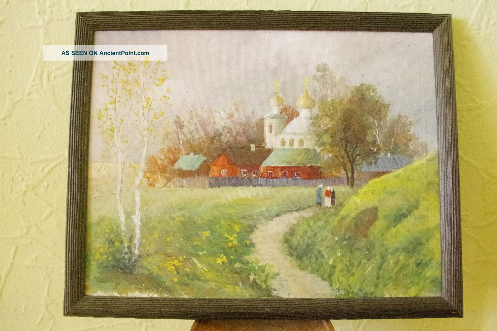 Old Russian Oil Painting On Canvas.  Signed And Dated. Uncategorized photo