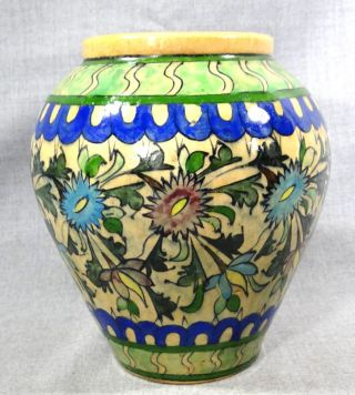 Antique Ottoman Turkish Iznik Islamic Faience Ceramic Pottery Crock Pot Jar photo