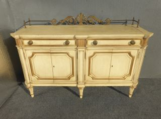 Vintage Luxury Karges Buffet French Country Cottage Gold Gilt Wood Sideboard photo