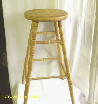 Vintage Wood Stool photo