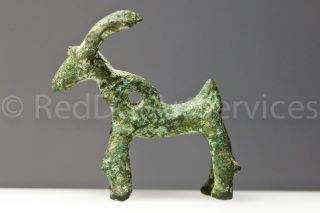 Persian Luristan Bronze Stag,  C.  1200 - 650 Bce (1598) Museum Quality photo
