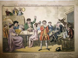 1805 Laurie & Whittle Broadside Ballad Color Caricature At Covent Garden - Rare photo