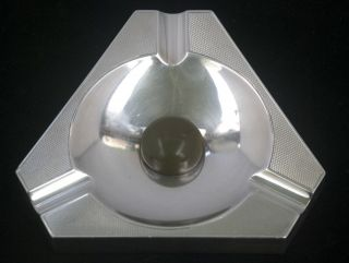 Solid Silver Art Deco Ashtray - London 1937 photo