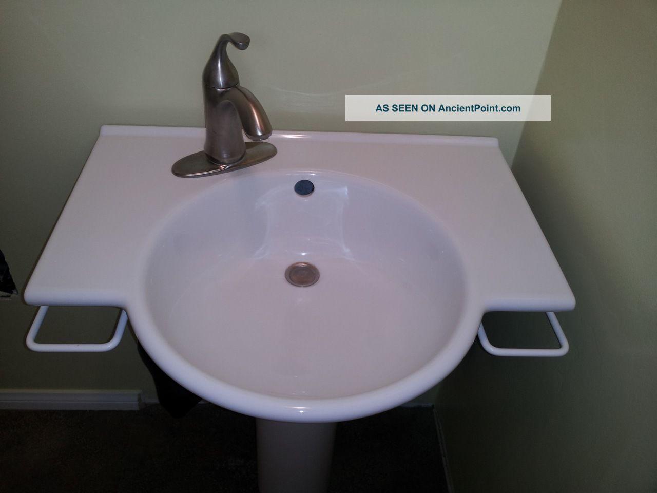 Genial White Porcelain Porcher Designer Pedestal Sink France