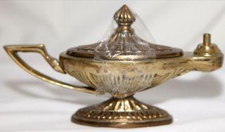 Vintage Brass Genie Oil Lamp photo