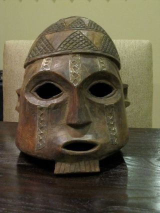 African Wood Mask - Congolese - 20 Percent Of Proceeds To Charity photo