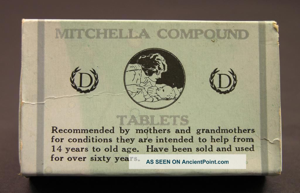 C1909 Mitchella Compound Tablets Box,  Dr.  J.  H.  Dye Medical Institue,  Buffalo,  Ny Other photo