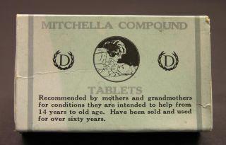 C1909 Mitchella Compound Tablets Box,  Dr.  J.  H.  Dye Medical Institue,  Buffalo,  Ny photo