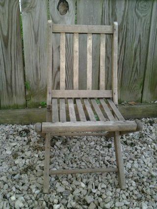 Antique Paris Mfg Co Childs Wooden Chair photo