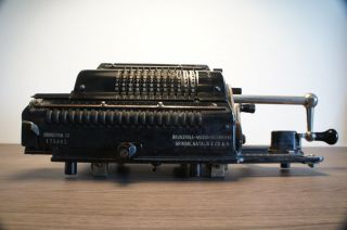 Black Brunsviga Model 20 Calculator (pinwheel) Made In 1939 - Fully Tested photo