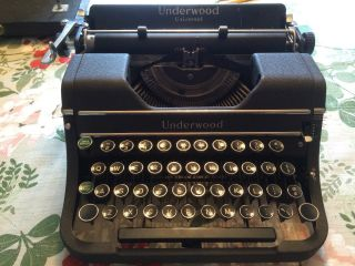 Vintage Late 1930 ' S Underwood Universal Portable Typewriter F1296485 With Case photo