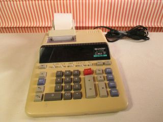 Calculator/adding Machine,  Electronic,  Sharp Model El - 1197g,  Printer Calculator photo