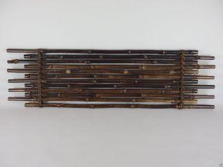140783 Vintage Japanese Tied Bamboo Tokonoma Alcove Board Wall Decoration photo