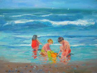 Sorolla Interest O/b Carmel Children Playing On The Beach 9