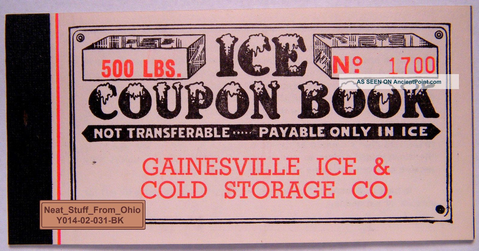 Ice Coupon Booklet - Gainesville Ice And Cold Storage Company (florida) C1940 ' S Ice Boxes photo