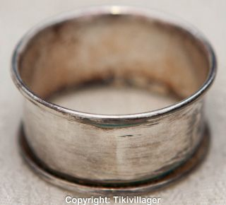 Antique Silver Plated Napkin Ring By Rogers photo