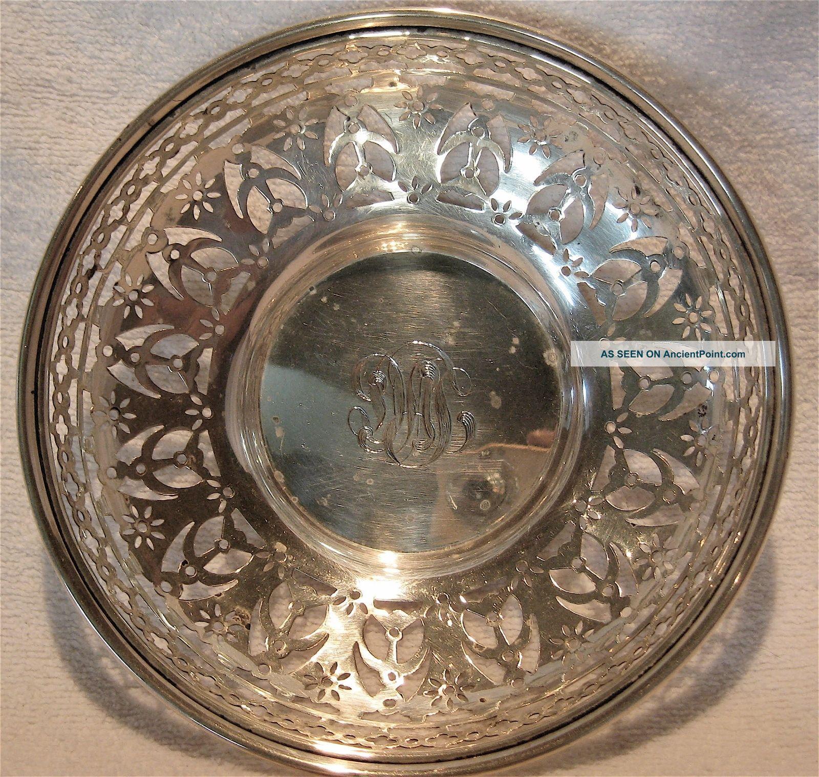 Antique Sterling Meriden Britannia Pierced 6