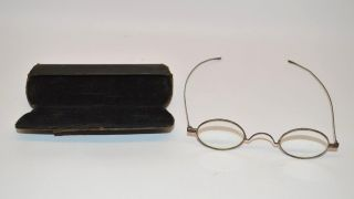 Antique Eye Glasses Specticles With Case photo