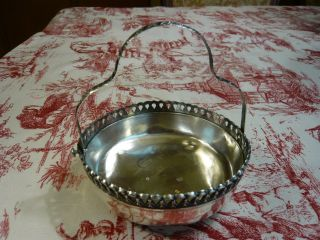 Barbour Silver Co.  Quadruple Silver Wedding Basket With Swing Handle 1850 - 1899 photo