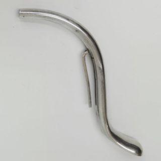 English Sterling Silver Sick Siphon Medicine Invalid Feeding Tube Straw Ca 1800 photo