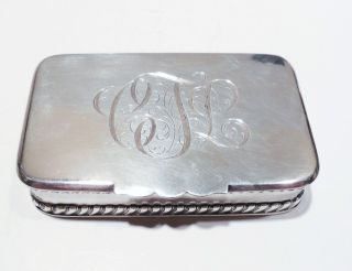 Sterling Silver Double Stamp Box Frank Smith Silver Co Antique 1890 American photo