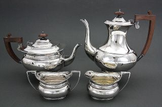 Stunning Fine 4 Pc Birks Regency Silver Plate Tea / Coffee Set photo