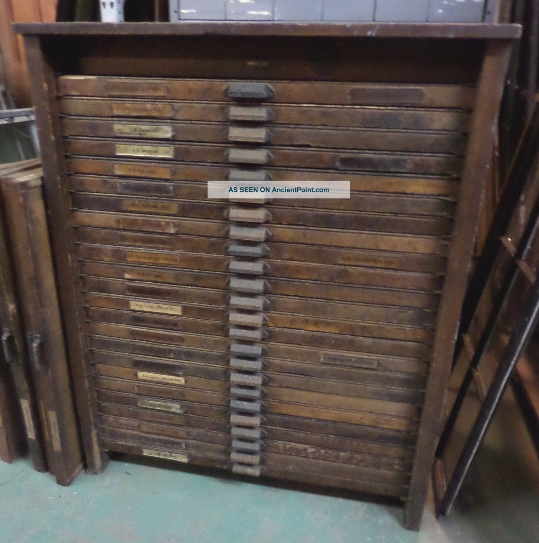 Antique Letterpress Cabinet Letterpress Cabinet