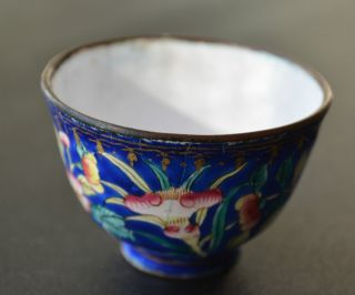 Antique Chinese Enamel On Copper Small Bowl photo