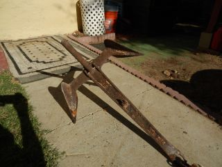 Vintage Antique Boat Anchor & Rope photo