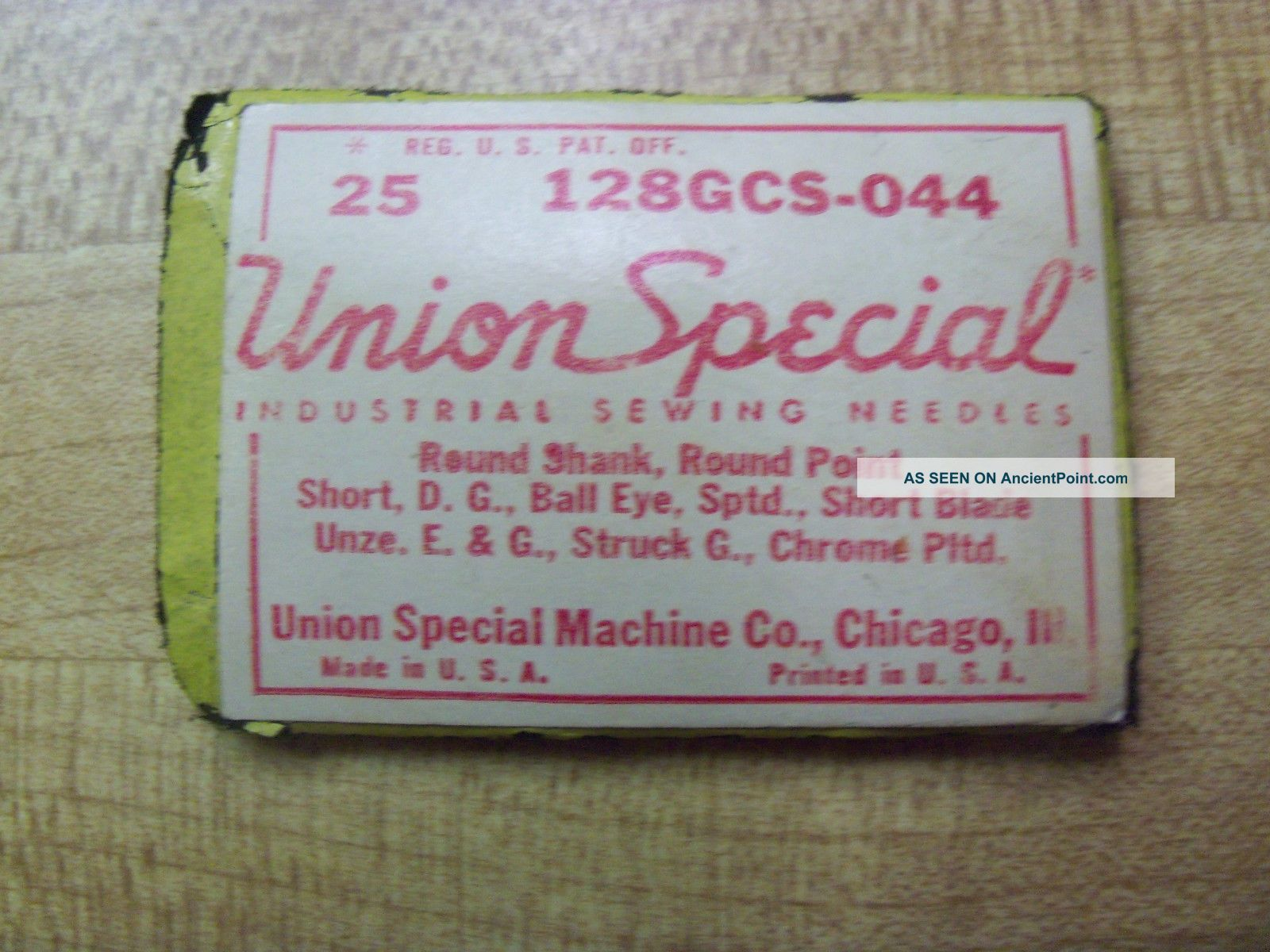 25 Union Special 128gcs 149x3 Size 18 Industrial Sewing Machine Needle Yamato Needles & Cases photo