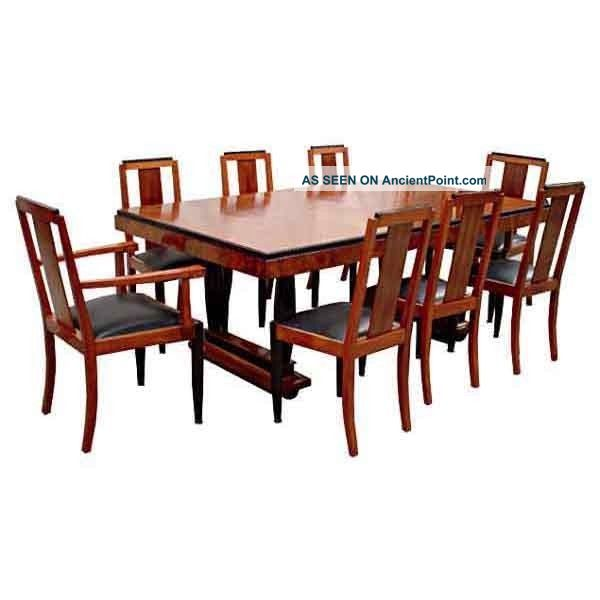 6116 Fabulous Antique 9 - Pc.  Art Deco Dining Set 1900-1950 photo