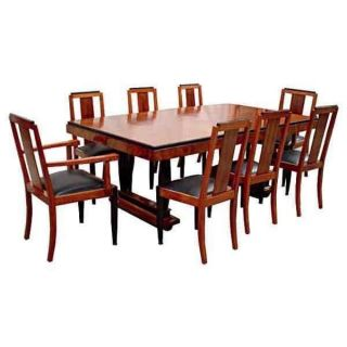6116 Fabulous Antique 9 - Pc.  Art Deco Dining Set photo